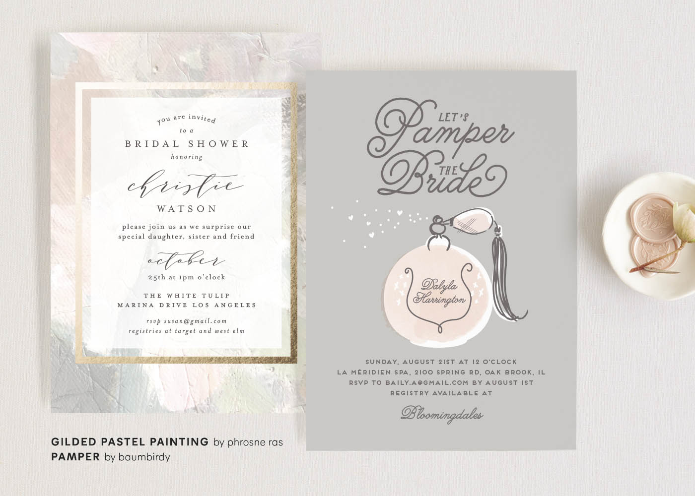 Bridal Shower Invitations - Outdoor Ideas