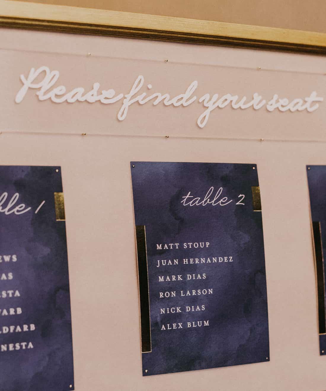 wedding invitation design in custom colors