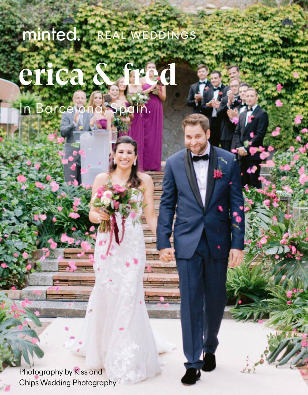 Minted Real Weddings: erica & fred in Barcelona, Spain