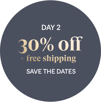Day 2 Offer: 30% off + free shipping - Save the Dates