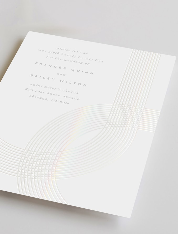 Gloss-Press™ & Foil-Pressed Invitations
