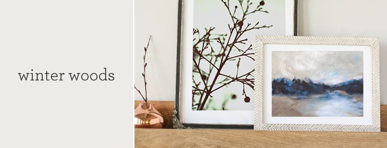 winter woods art pairs