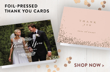 foil pressed thank you cards