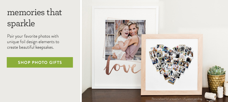 foil pressed photo gifts
