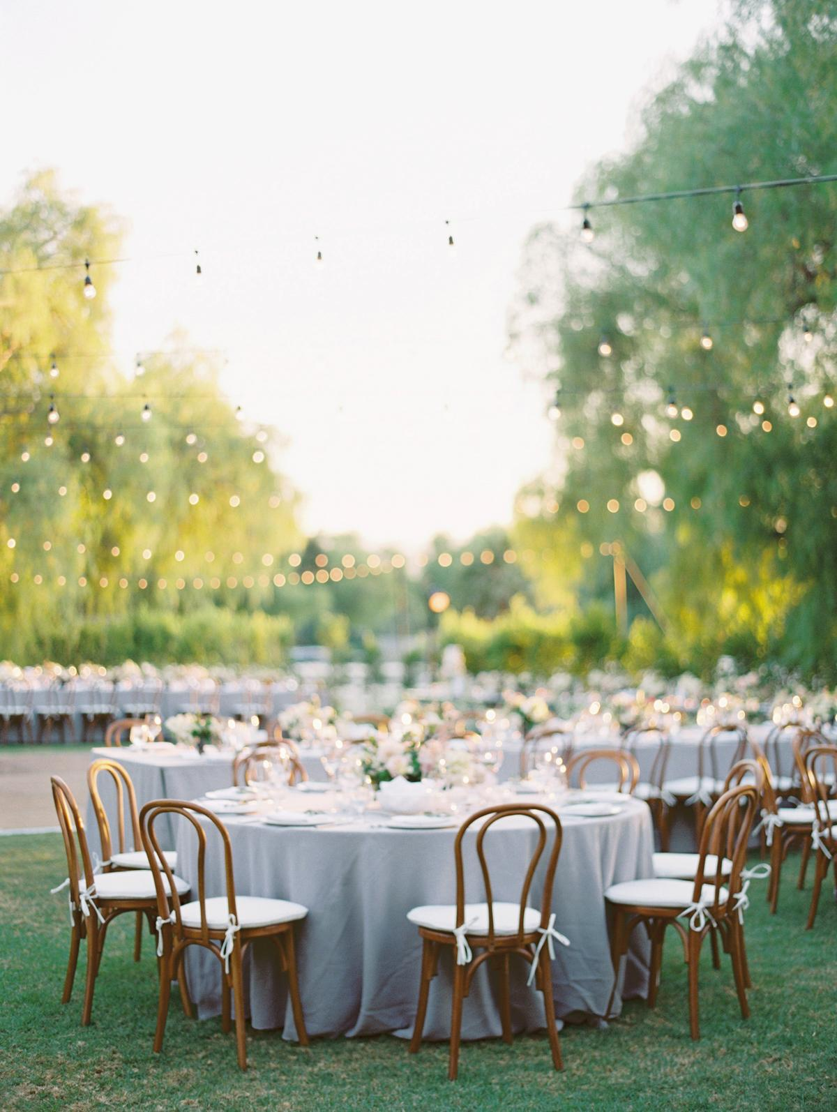 Wedding tables with flowers