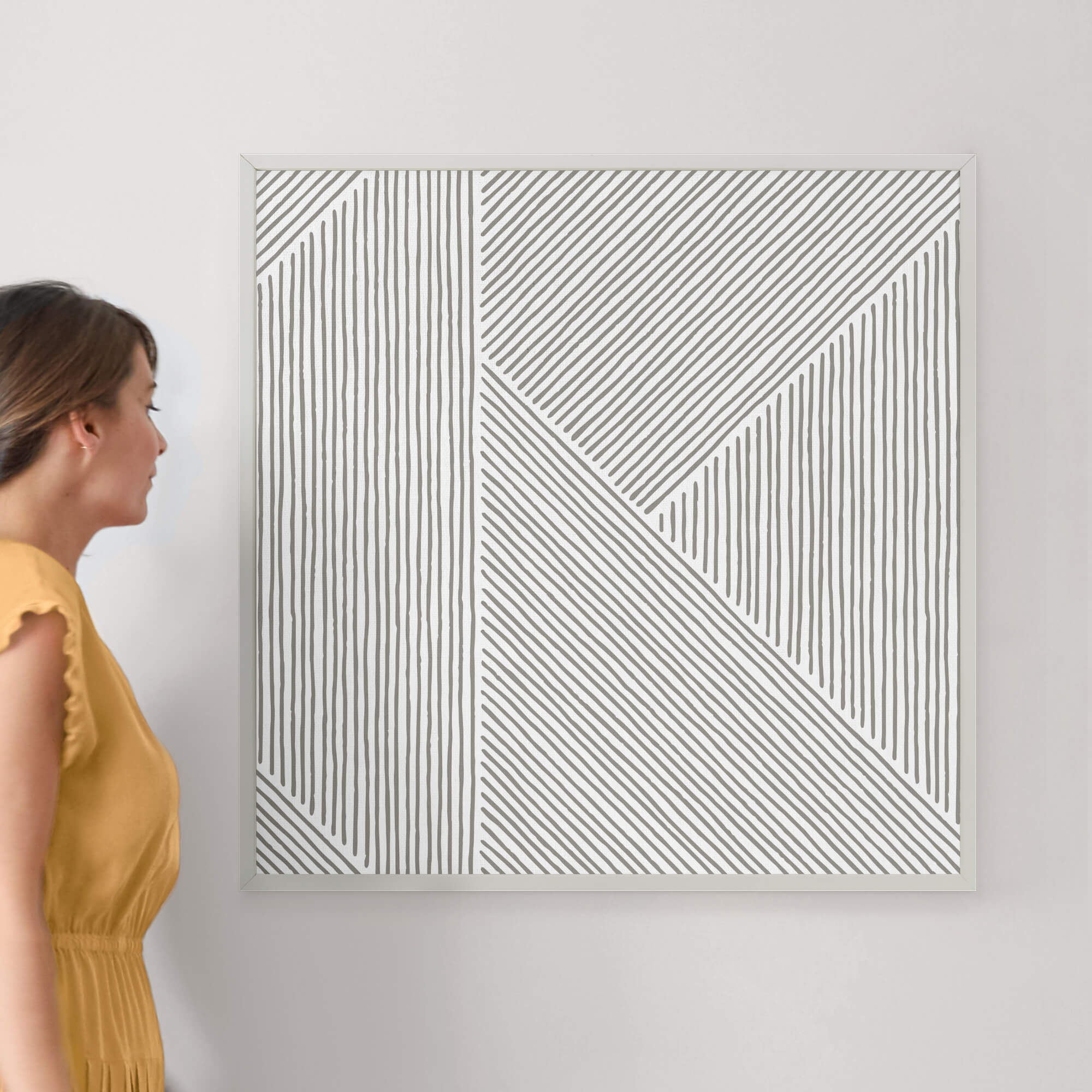"""Line Mix by Michelle Taylor: 30"""" x 30"""" @ $157.00"""