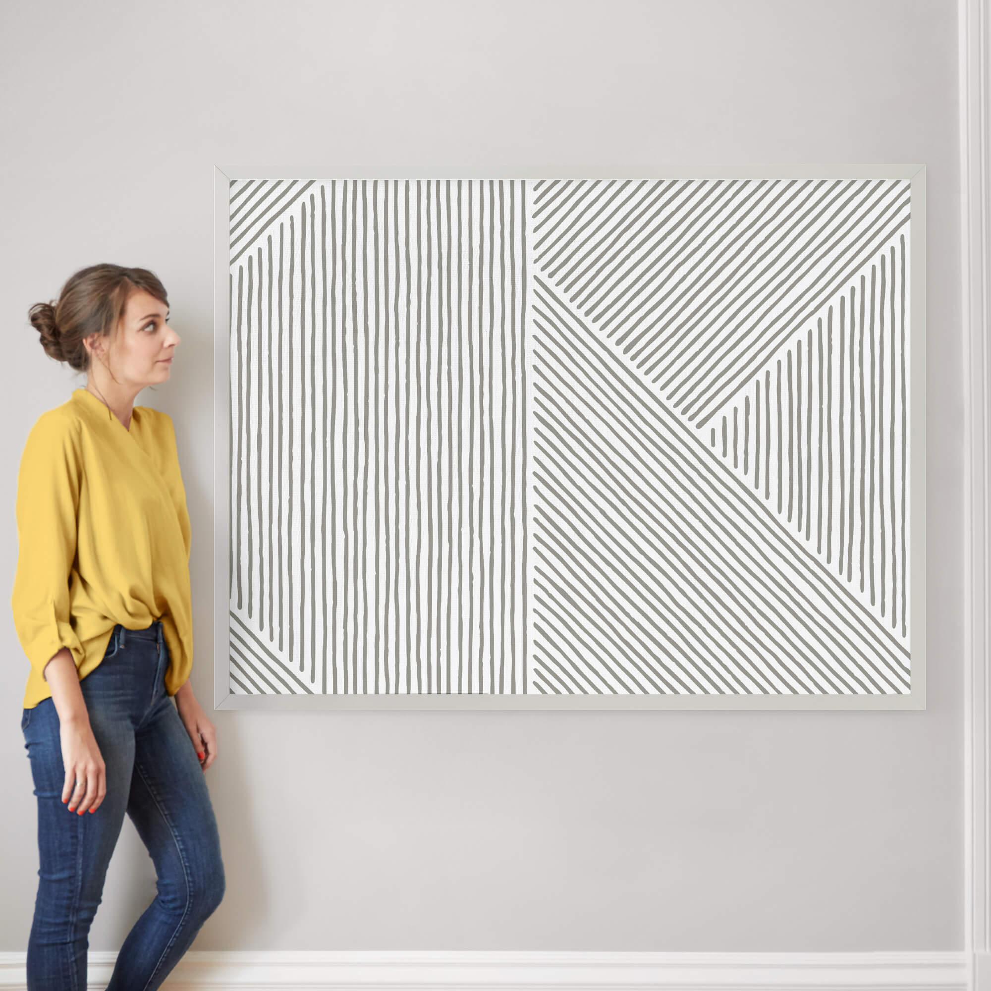 """Line Mix by Michelle Taylor: 40"""" x 54"""" @ $230.00"""