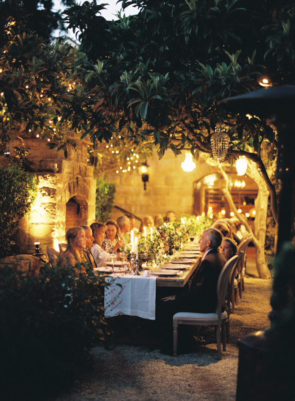 Night time wedding ceremony