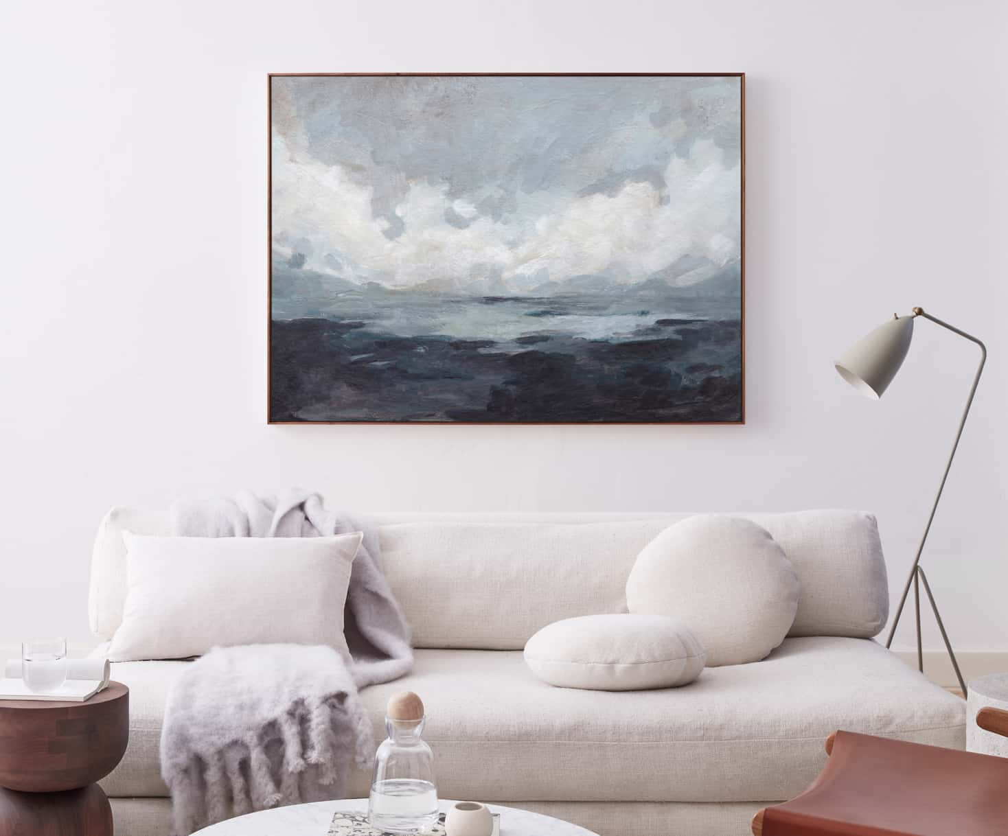 Canvas art on a wall