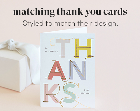 Matching Thank You Cards