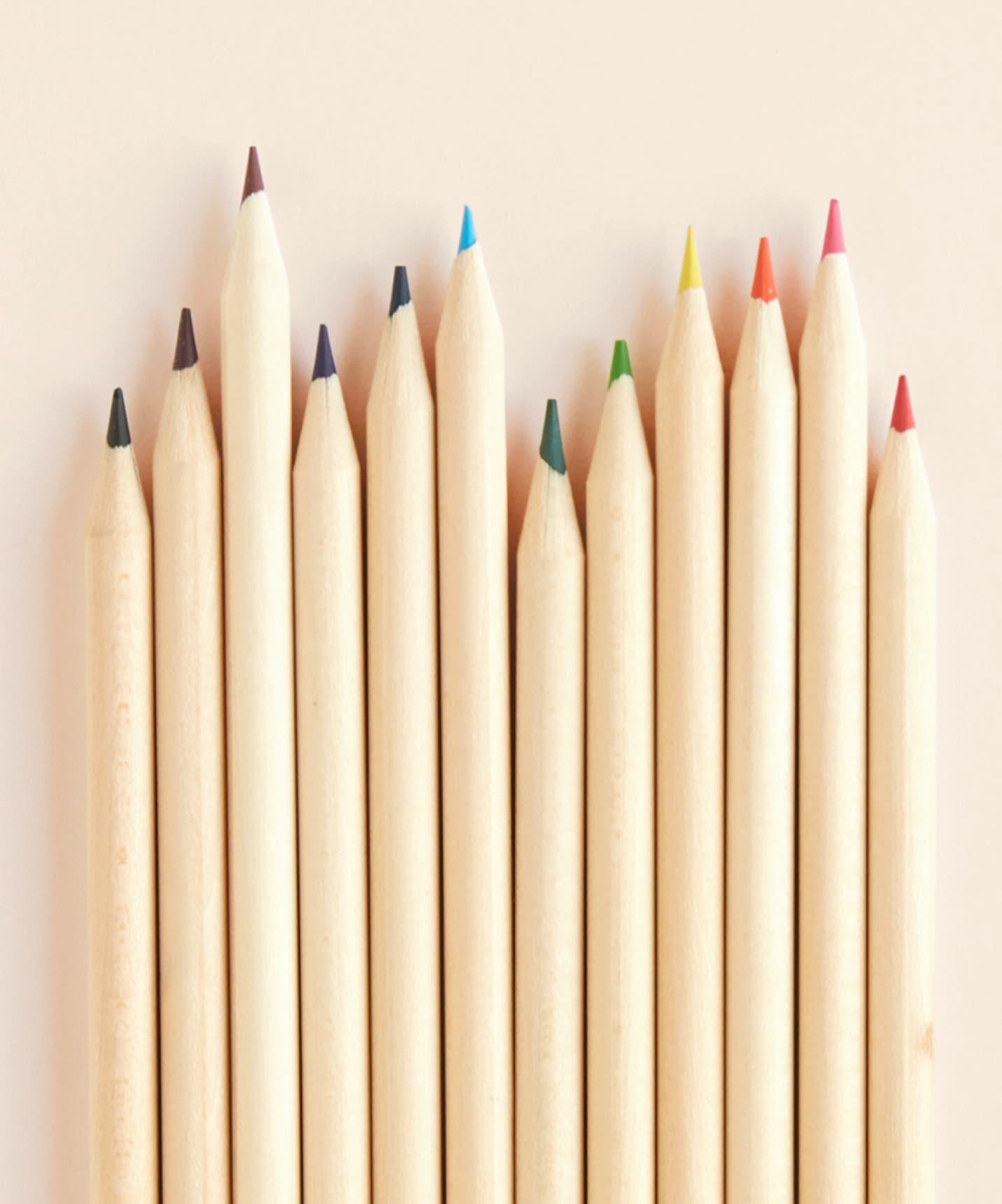 Natural wood pencils