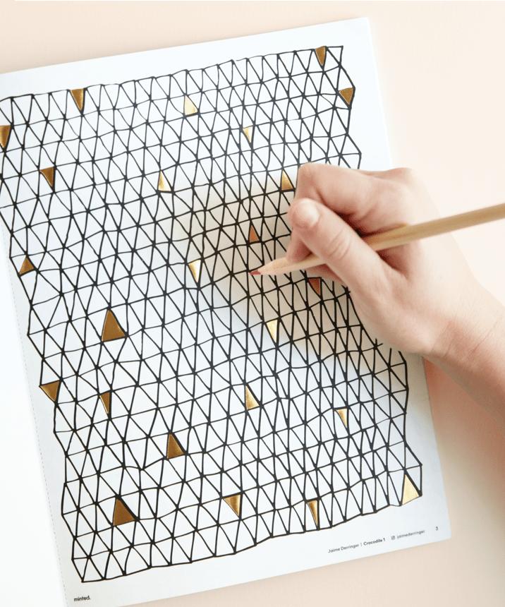 Hand-pressed Gold Foil