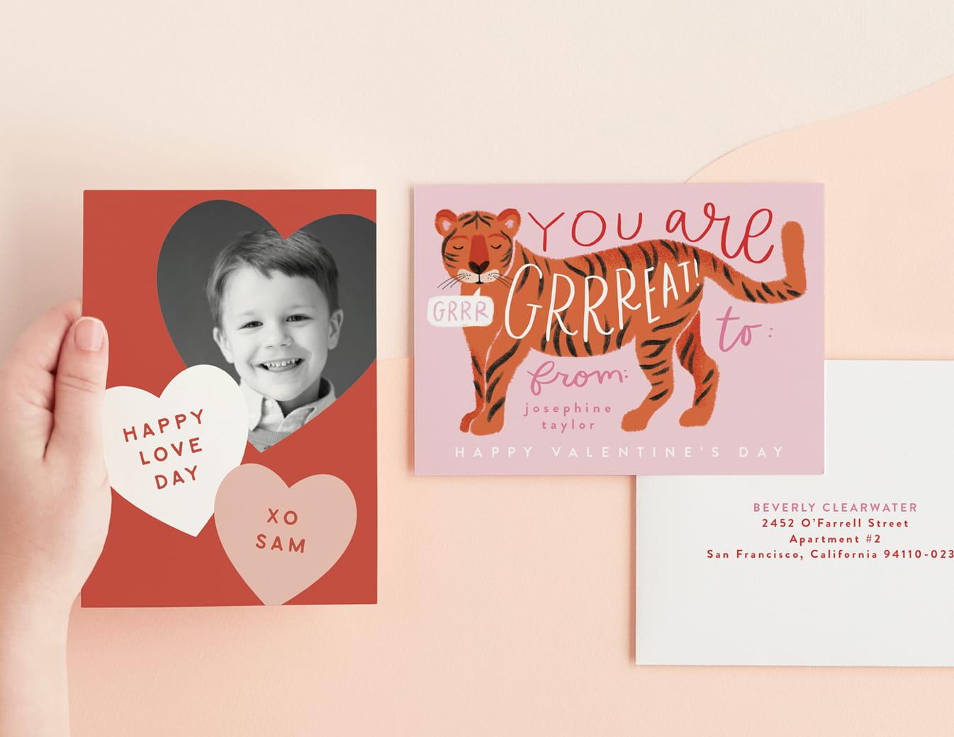Children's classroom valentines