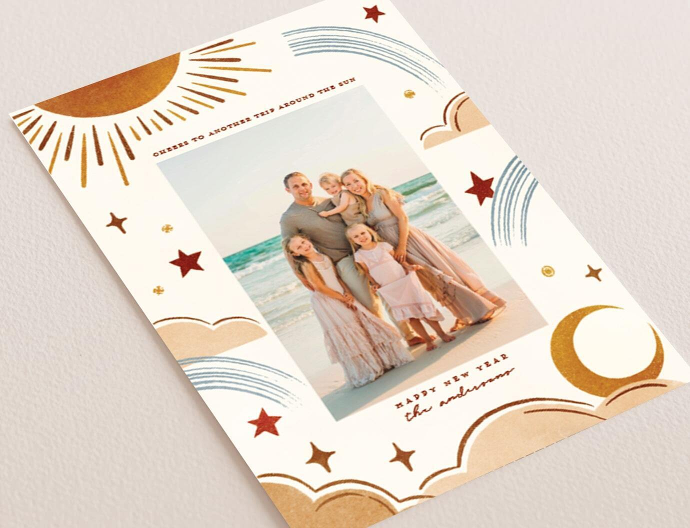 Celestial holiday card trend