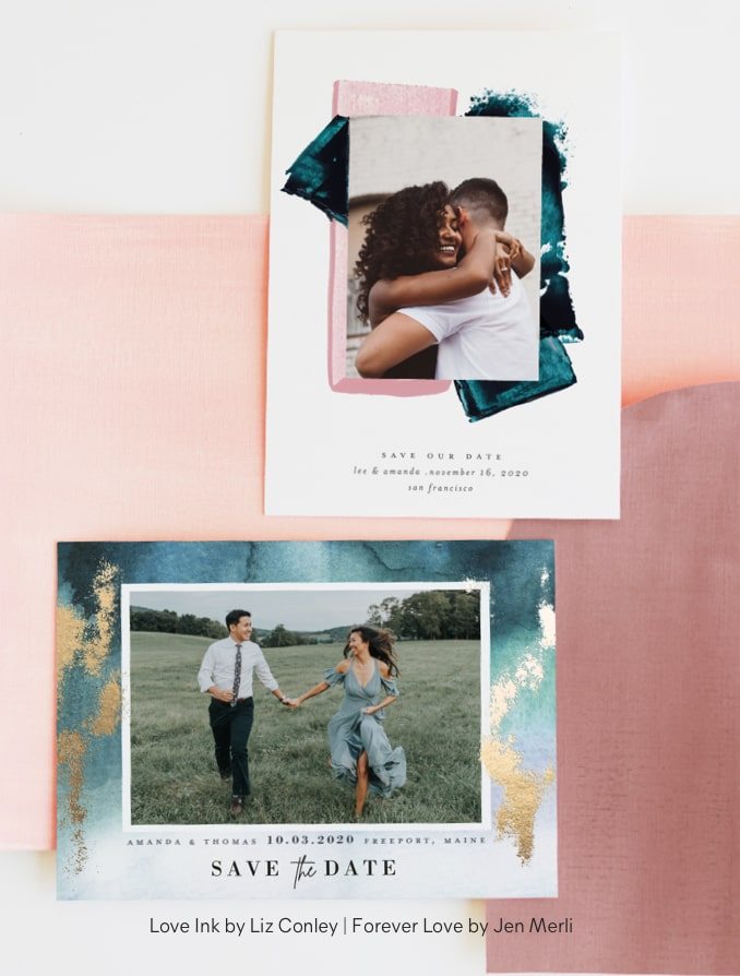 Painterly Save The Dates