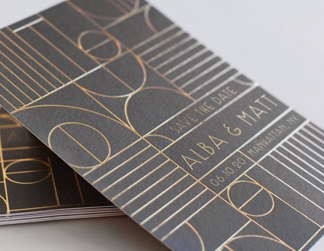 Shop Foil Save the Dates