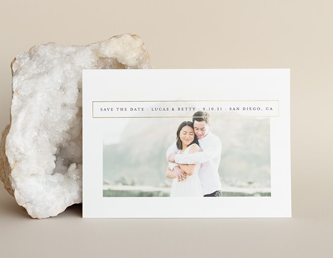 Shop Simple & Minimal Save the Dates