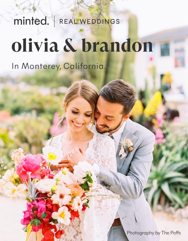 Minted Real Weddings: olivia & brandon in monterey, california