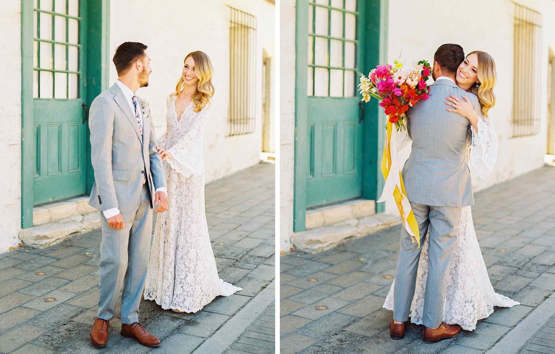 Bride & her parents, Wedding Bouquet