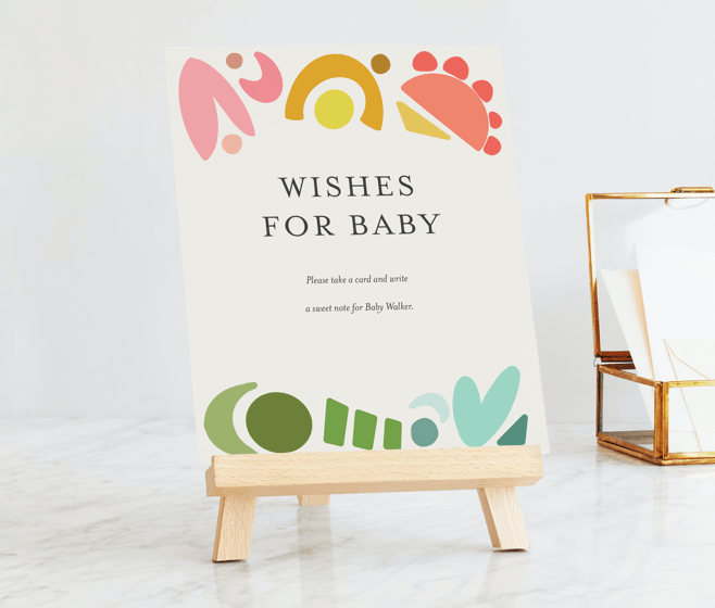 Custom Baby shower Signs - Easels