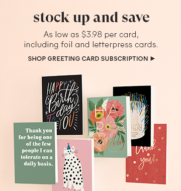Greeting Card Subscription