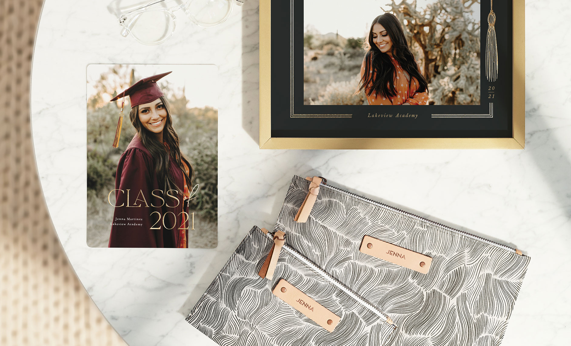 Graduation announcements, thank you cards, photo art gifts