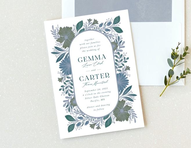 Shop Something Blue Wedding Invitations