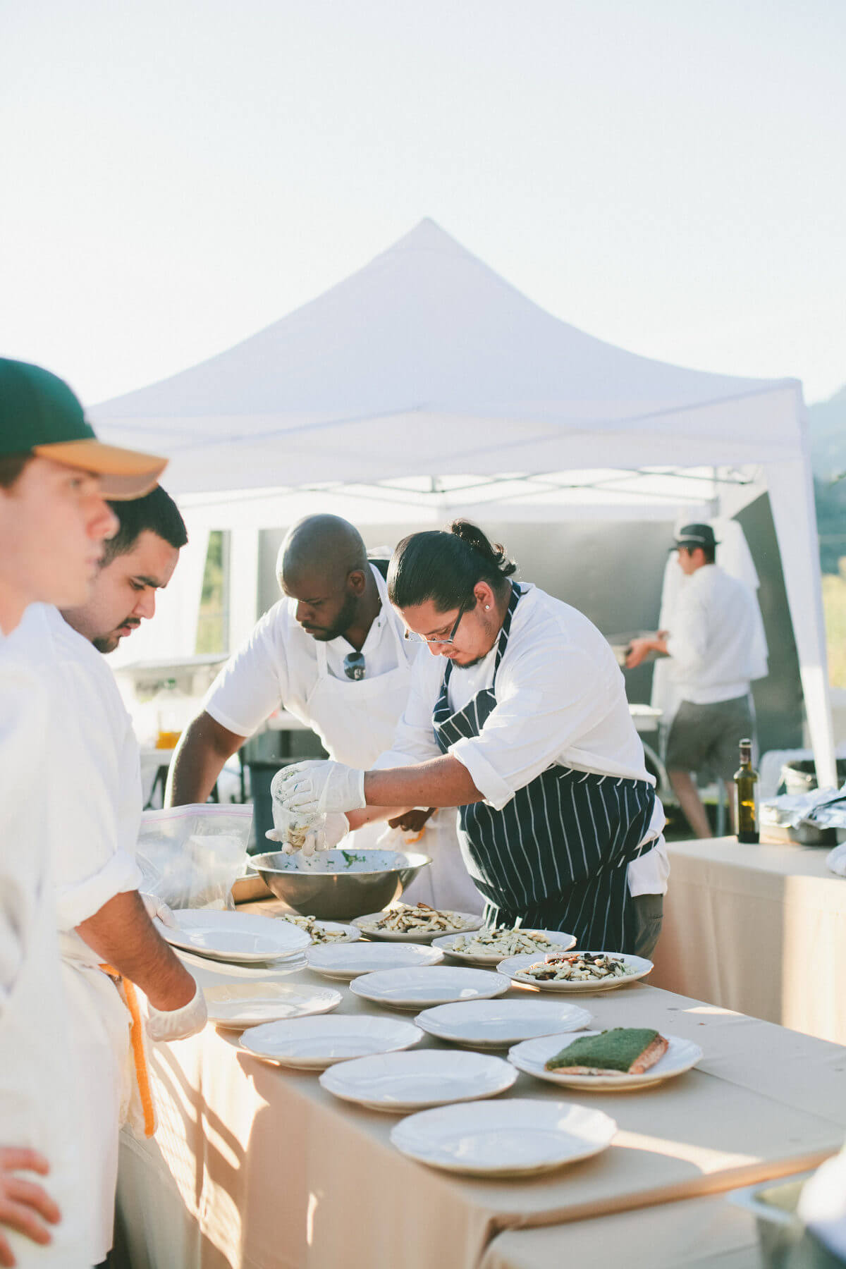chefs preparing catering