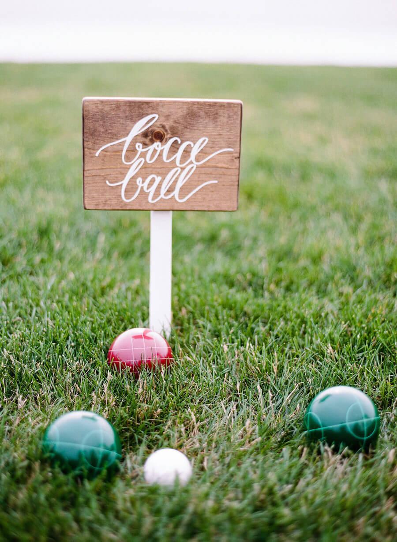 Boce ball wedding game