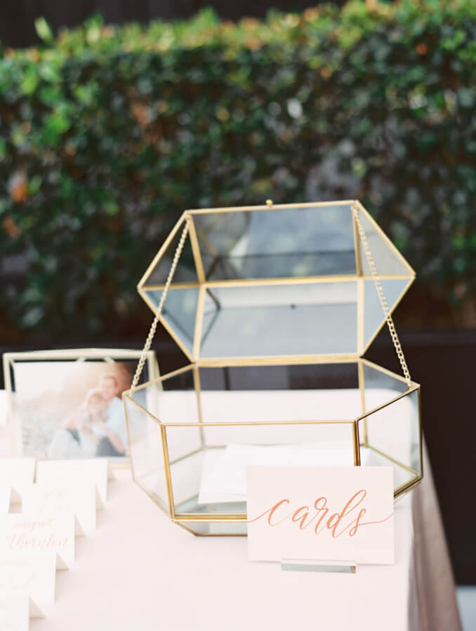 glass box for wedding wishes
