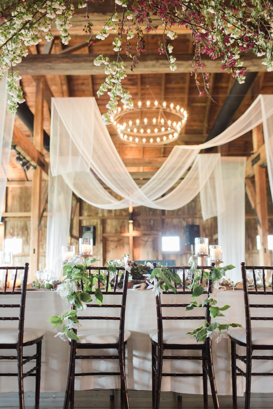 rustic decorated wedding dinner table