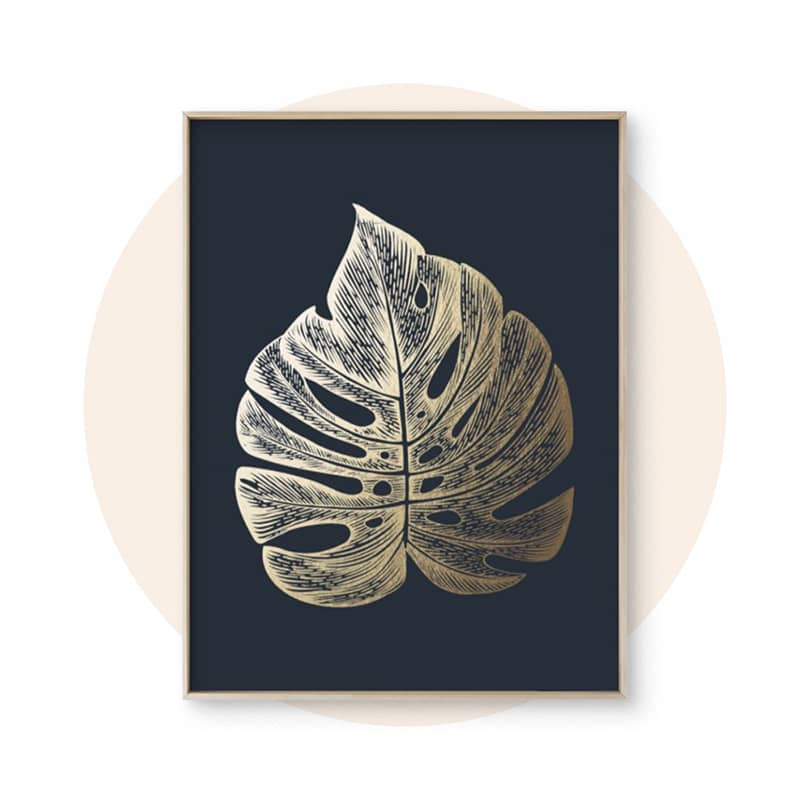 Foil-Pressed Botanical Art