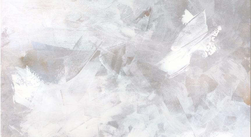 Melody in White Art Print