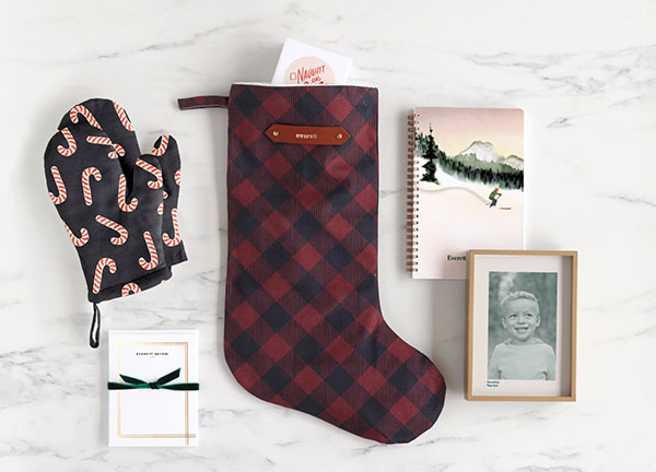 Stocking, oven mitts, journal, photo gifts