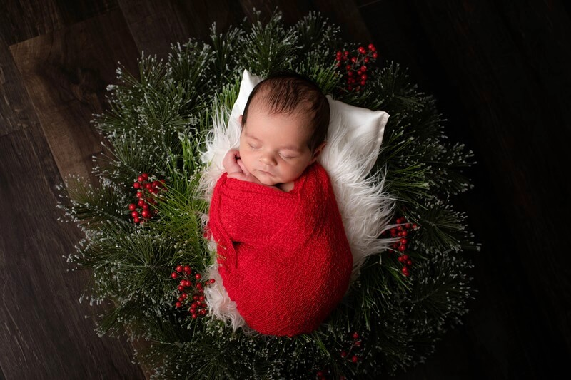 Baby in a wreath