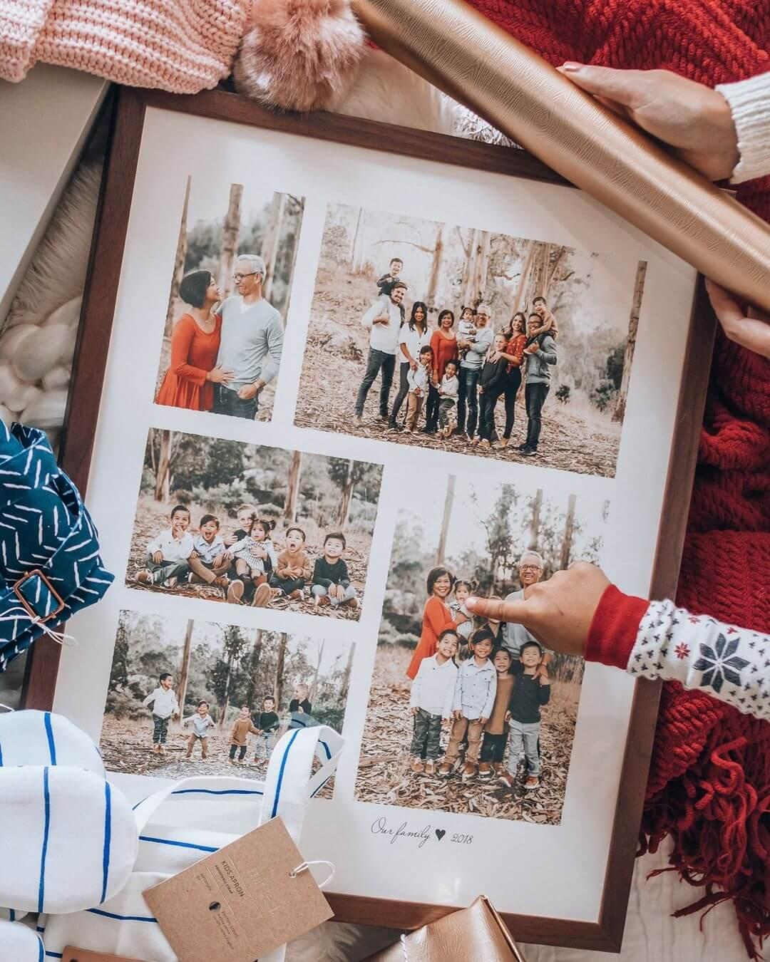 Framed christmas photos