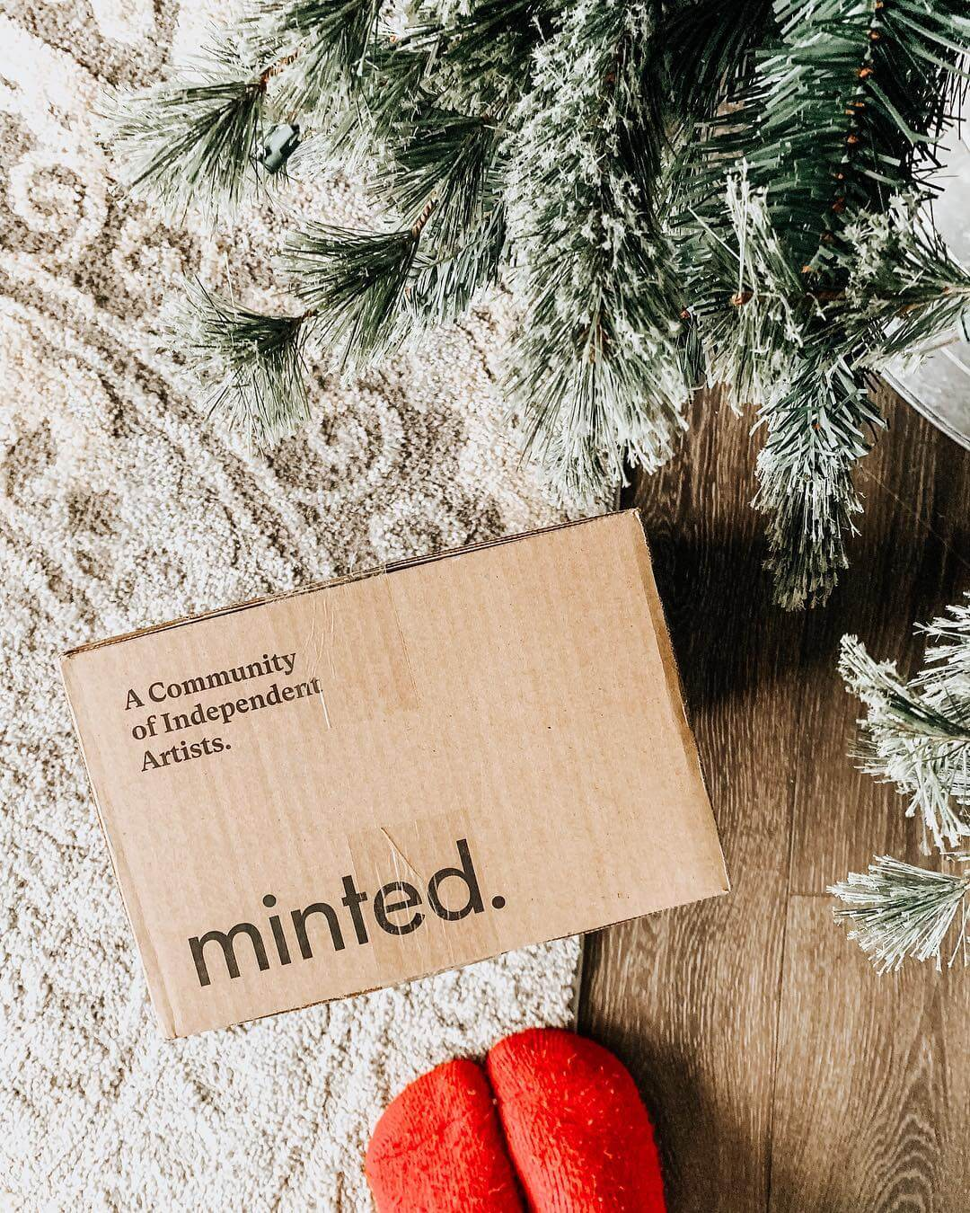Minted package under tree