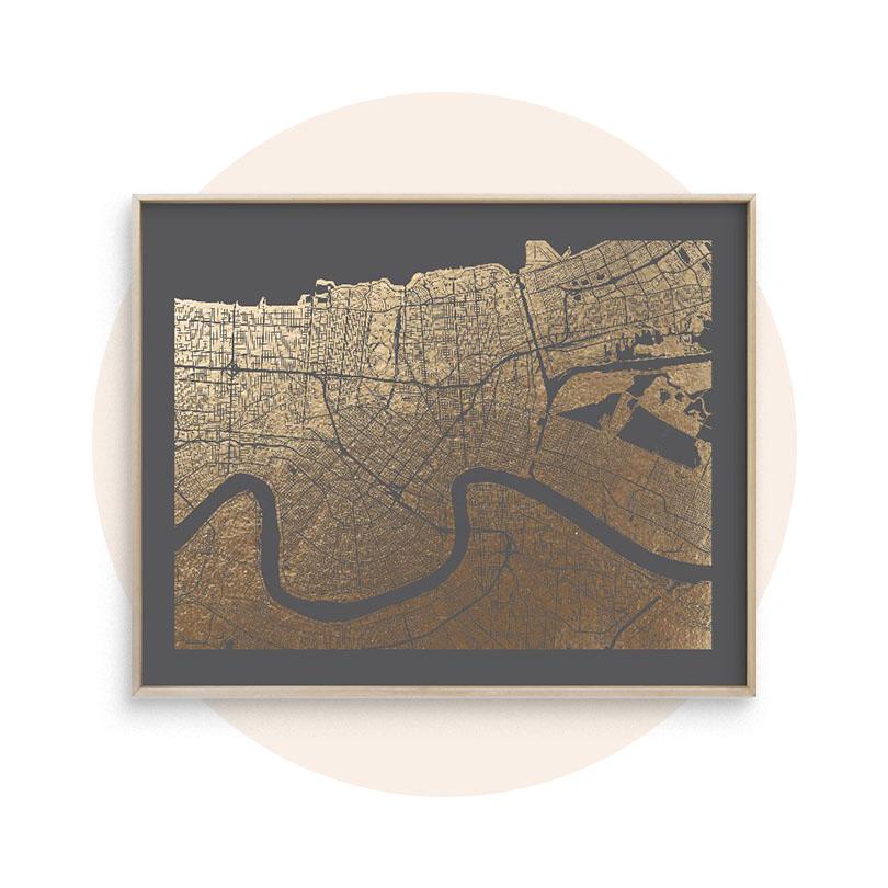 Foil-Pressed Maps