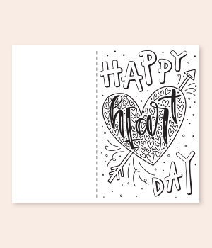 Happy Heart Day Card Printable
