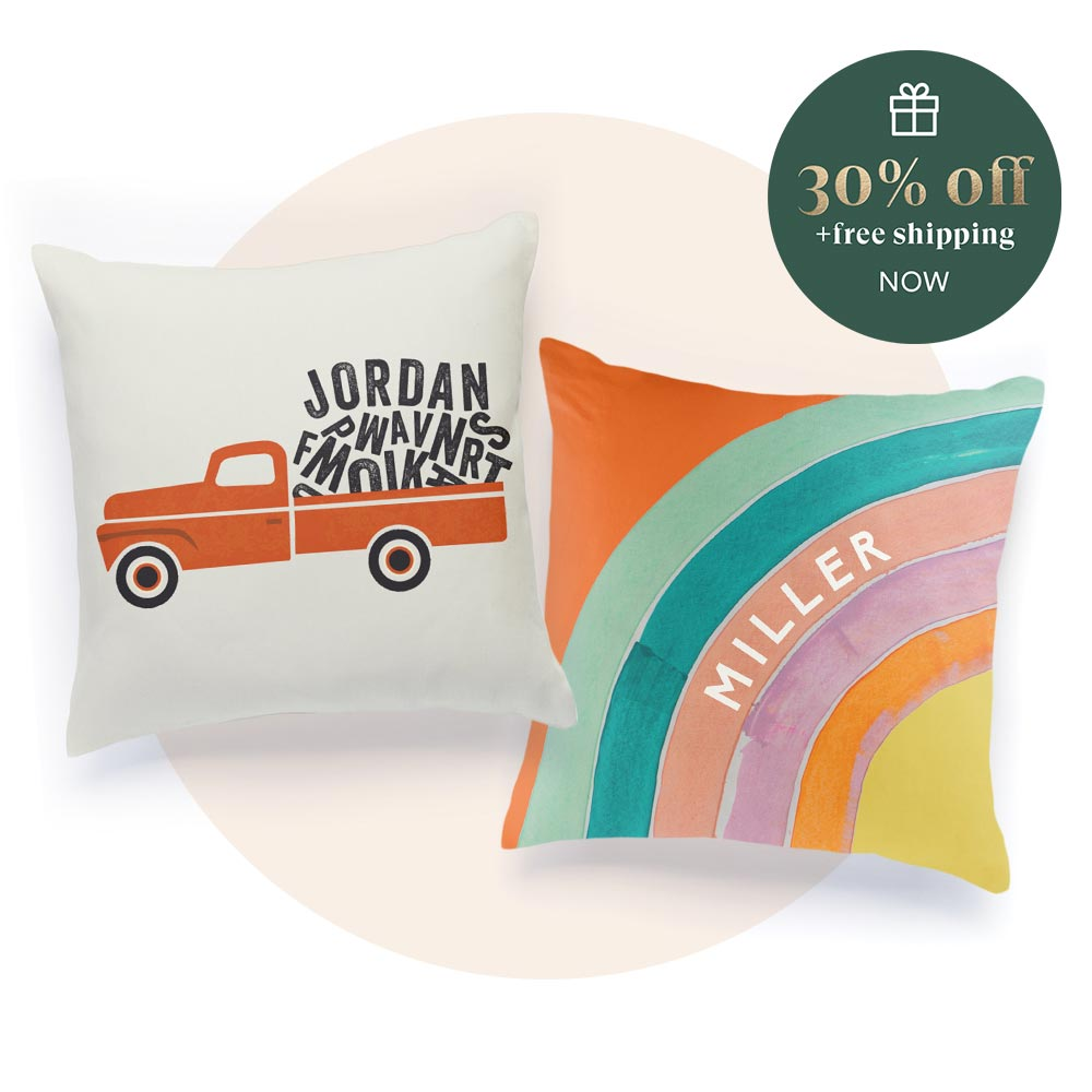 Personalizable Pillows