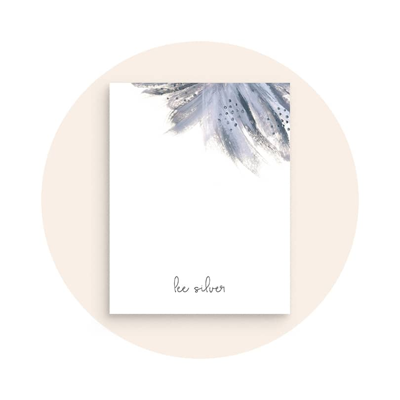 Personalized Stationery with Custom Foil Text