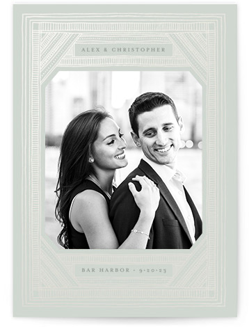 Ornate Frame Gloss-Pressed Save The Date Cards