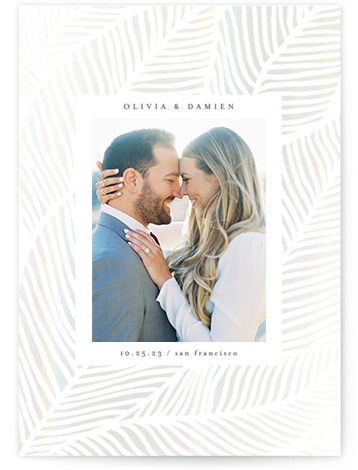Tropical Bliss Gloss-Pressed Save The Date Cards