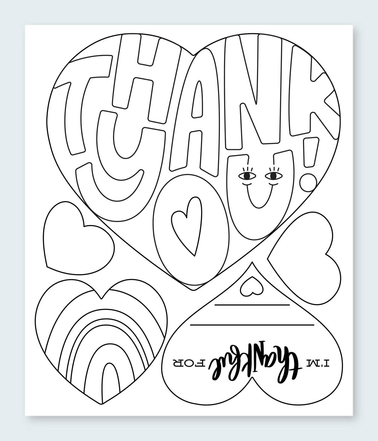 Heartfelt Thanks Printable