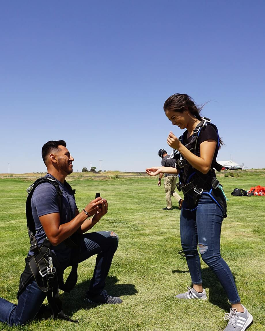 proposal at skydiving