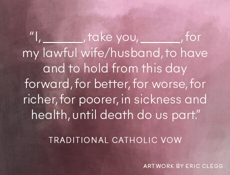 Traditional Catholic wedding vow