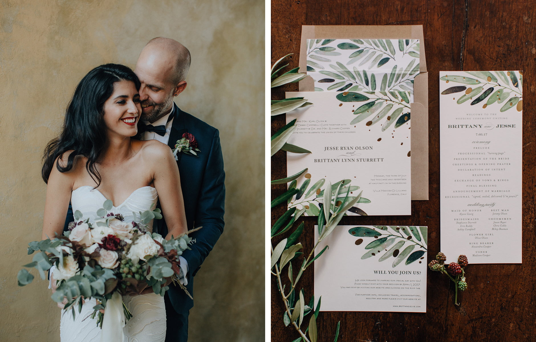 Minted Real Weddings: Brittany and Jesse - 1