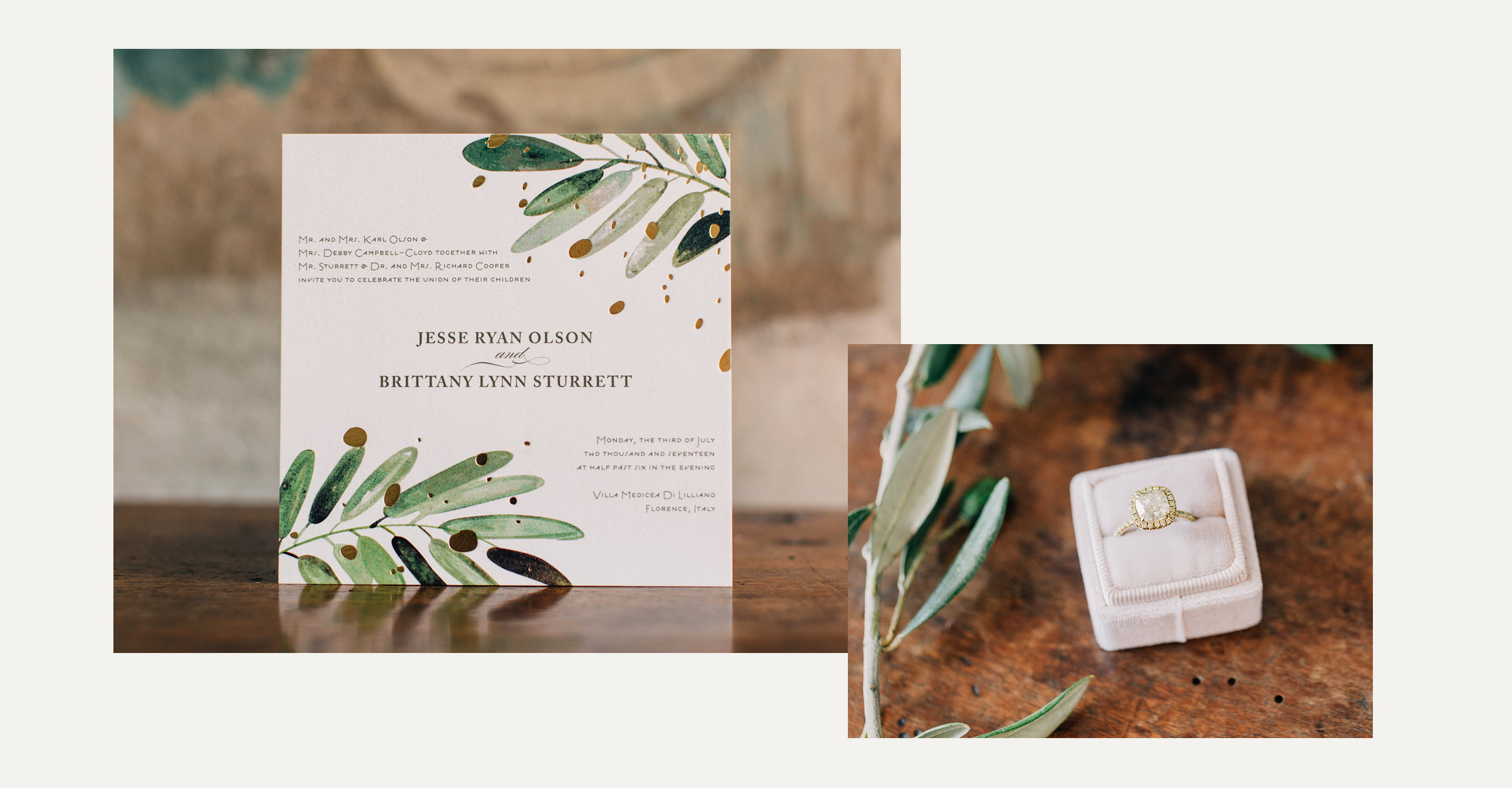 Minted Real Weddings - Brittany and Jesse wedding invitations