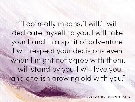 Bride's wedding vow
