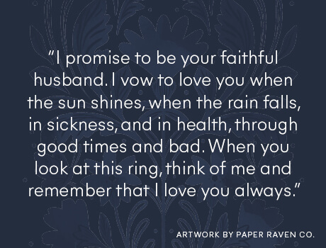 Male wedding vow
